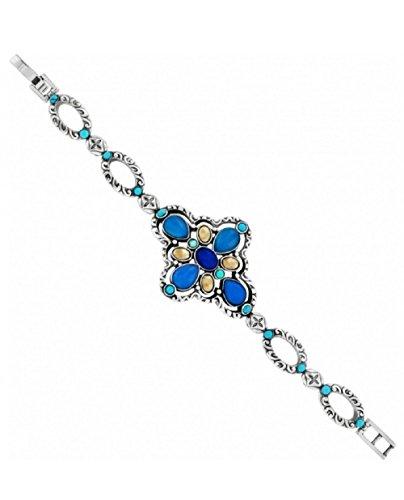 Brighton Nadia Cross Silver Blue Bracelet