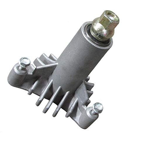 Spindle Shaft Assembly - New Replacement for 130794 Spindle, or Mandrel, Craftsman, Poulan, Husqvarn, More.... with pre-tapped mounting holes and 3 mounting bolts