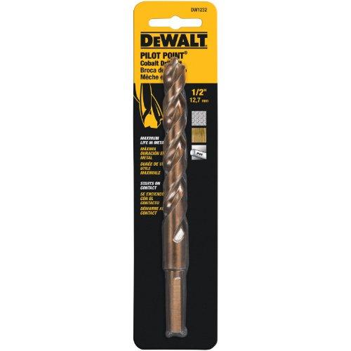 DEWALT DW1232 1/2-Inch Cobalt 3/8-Inch Reduced Shank Split Point Twist Drill Bit ()