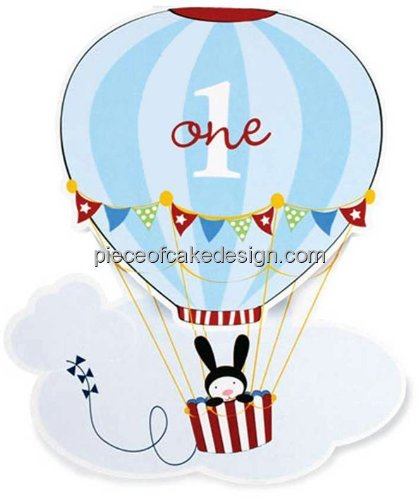 "2"" ~ 1st Birthday Hot Air Balloon Birthday ~ Edible Cake/..."