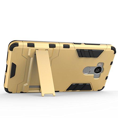 Xiaomi Redmi 5 Funda,Xiaomi Redmi 5 Fundas,Regalo:2.5D Vidrio Templado Protector Pantalla para Xiaomi Redmi 5,Xinyunew silicona TPU + plastico Anti Arañazos de Protectora para Xiaomi Redmi 5 Rojo Plata