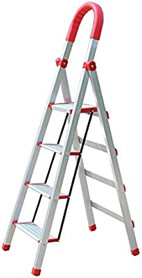 XuQinQin Escalera Plegable Escalera Gruesa de Aluminio Escalera Plegable doméstica Escalera Decorativa de Tres Pasos Escalera Interior Escalera Interior (Dos tamaños Son Opcionales) banquetas: Amazon.es: Hogar