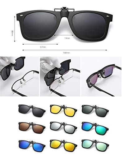 Sol sol con Color Gafas conducción 6 clip y de cómodos pesca en para Polarizadas Plástico de Unisex Clips Elegantes Marco Clip exterior miopes Gafas xwqIRB60a