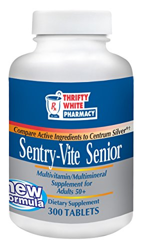 Thrifty White Sentry-Vite Senior Multivitamin/Multimineral Supplement for Adults 50+ - 300 Tablets