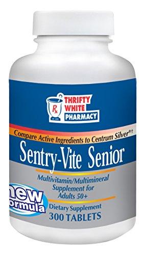 Thrifty White Sentry-Vite Senior Multivitamin/Multimineral Supplement for Adults 50+ - 300 Tablets