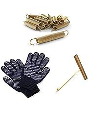 Ampel 24 Trampoline vervangende veer set van 24 veren, ca. 178 mm trekveerlengte evenals een veerspanner en een paar handschoenen