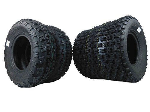 (New MASSFX ATV Sport Quad Tires Two Front 21X7-10 and Two Rear 20X10-9 For Yamaha Raptor Banshee Honda 400ex 450r 660 700 400 450 350 250 (4 Pack(2 Front 21x7-10) (2 Rear 20x10-9)))