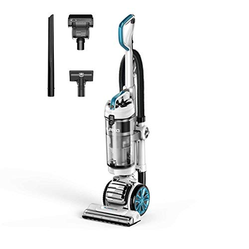 Eureka NEU562A FloorRover Upright Vacuum Cleaner, Bagless Pet Vacuum for Carpet and Hard Floor, Blue
