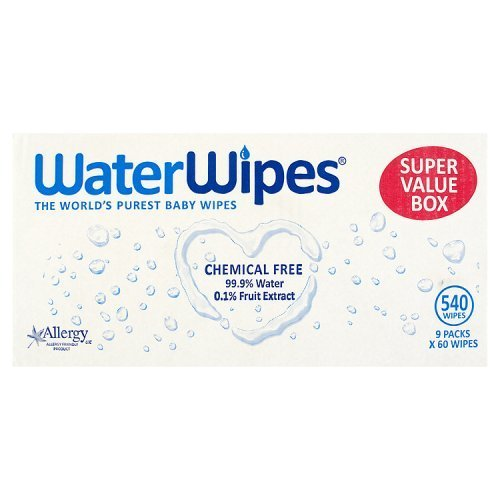 : WaterWipes Sensitive Baby Wipes, Natural & Chemical-Free, 9 x 60 ( 540 Wipes) by WaterWipes