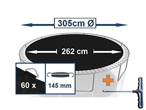 Sprungtuch Sprungmatte Ersatzteile für Trampolin Ø 305 cm 60 Ösen (Federn 14,5 cm)