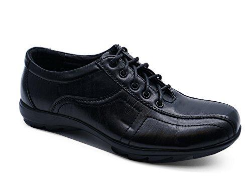 Kinder schwarz Schulanfang Uniform zum Schnüren Smart Flache Schuhe Pumps Größen 10-6