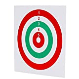 GearOZ Airsoft Target Papers for Pellet Trap Pellet Catcher Target Holder, BB Gun Target Papers Red & Green Pack of 100
