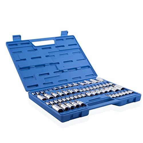 (Fewear 60-Piece Set | Master Torx Bit Socket and External Torx Socket | S2 and Cr-V Steel, 1/4