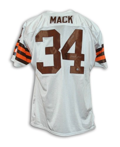 Kevin Mack Cleveland Browns Autographed White Throwback Jersey Inscribed