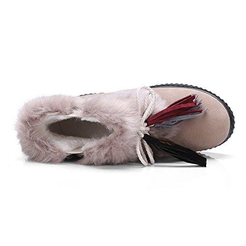 Balamasa Botas De Nieve Para Mujer Forro De Terciopelo Botas De Gamuza Con Flecos Abl10521 Albaricoque