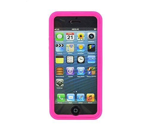 Caja protectora gada para Apple iPhone 5 5S caja del teléfono de 5 g TPU móvil con pantalla táctil disponible en diferentes colores rosa rosa