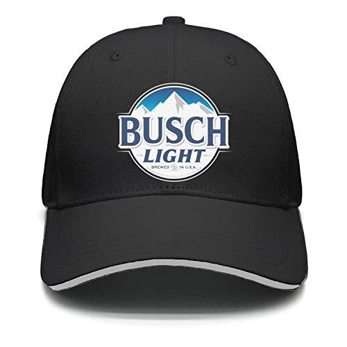 Unisex Busch-Light-Sign- Snapback Hats Sports Cap Rock Punk caps]()