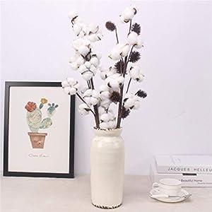 Artificial Cotton Flower 2 Colors Single Branch Simulation Flower DIY Wedding Decoration for Home Party Office 1 Pcs,D 4