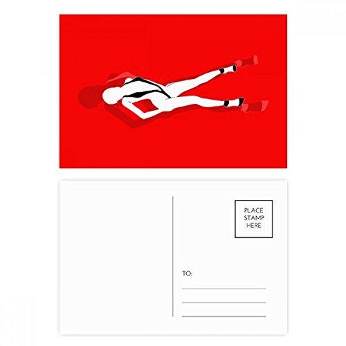 Stand Bikini Beauty Woman Postcard Set Birthday Thanks Card Mailing Side 20pcs by DIYthinker