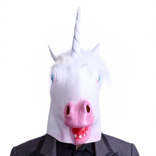 Hde Novelty Prop Magical Unicorn Head Halloween Costume Party Latex Mask
