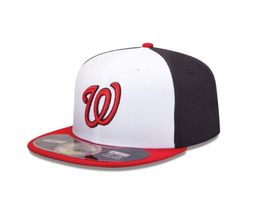MLB Washington Nationals Diamond Era 59Fifty Baseball Cap,Washington - Performance Practice Batting Cap