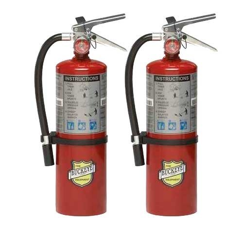 (Lot of 2) 5 Lb. Type ABC Dry Chemical Fire Extinguisher with Wall Hooks and Inspection Tag by Type ABC Dry Chemiclal Extinguisher By: BigDavesYardSale (Image #6)