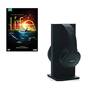 Sony MDRRF985RK Wireless RF Headphone (Black) bundled with the Best-Selling Life DVD
