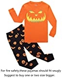 Halloween Pumpkin Big Boys Girls Pajamas Sets Pjs Sleepwears Size 12
