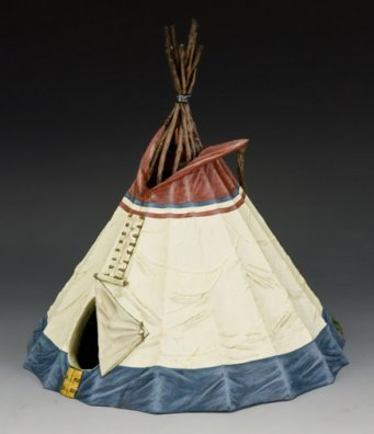 Indian Native Teepee American (Sioux Indian Teepee No.1 | The Real West | King & Country TRW064)