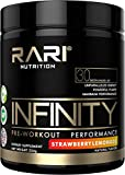 RARI Nutrition - INFINITY Preworkout - 100% Natural Pre Workout Powder for Energy, Focus, and Performance - Men and Women - Vegan and Keto Friendly - No Creatine - 30 Servings (Strawberry Lemonade)