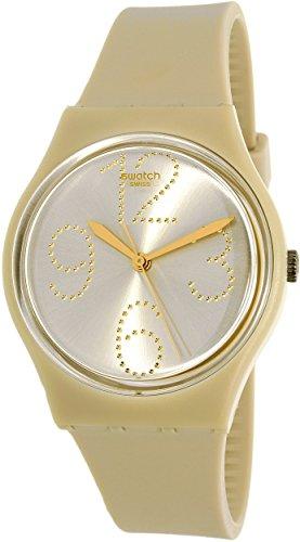 Swatch Sheerchic Silver Dial Beige Silicone Strap Ladies Watch - Swatch Online Store
