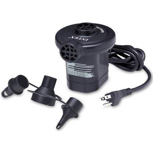 Intex 66619E Air Inflator, Quick-Fill 110-120 Volt AC Electric Pump - 3 interconnecting nozzles, UL/CSA listed (110-120V) (Intex66619E )