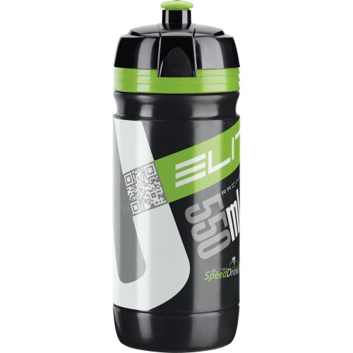 Elite Trinkflasche Corsa, Schwarz/Grün, 550 ml, FA003514218