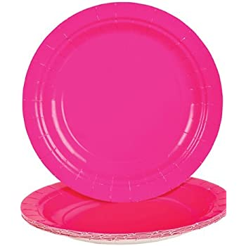 Hot Pink Dessert Paper Plates (25 pc)  sc 1 st  Amazon.com & Amazon.com: Hot Pink Dessert Paper Plates (25 pc): Toys u0026 Games