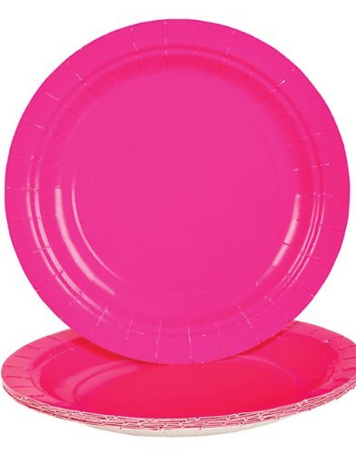 Hot Pink Dessert Paper Plates (25 (Hot Pink Party Plates)