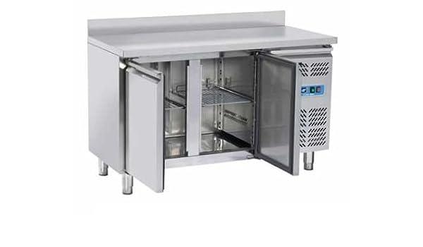 Banco Mesa Nevera congelador Snack 2 Puertas Prof. cm. 60 De Acero ...