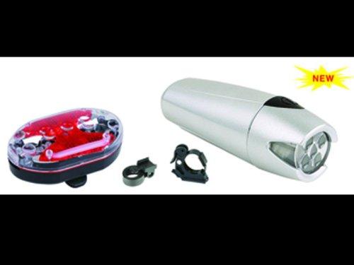 758 Light Five (Bike Head and Tail light combo set (5 LED Flashlight style headlight 758-5 and 9 LED taillight))