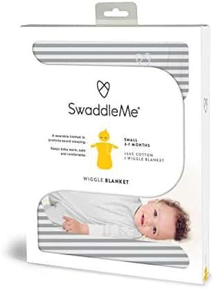 SwaddleMe Wiggle Blanket 1-PK, Grey Stripe (SM)