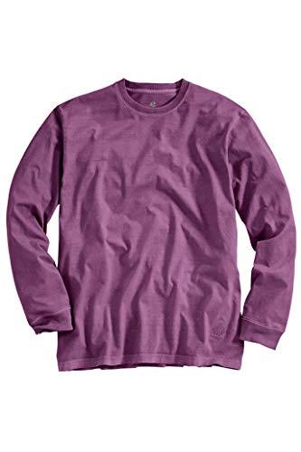 Territory Ahead Mens Casual Soft Cotton Crewneck Long Sleeve T-Shirt Purple -
