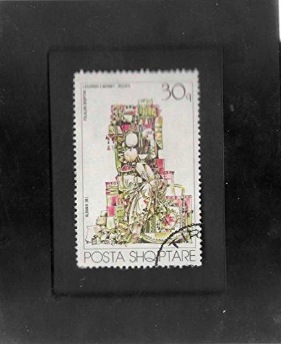 Stamps Folk Art (Tchotchke Stamp Art - Collectible Postage Stamp - Albanian Folk Art)