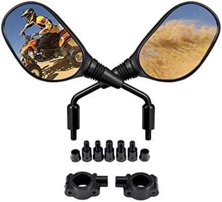 Motobiker オートバイ リアビューミラー スクーター 電極バイル バックサイド コンベックス ミラー 8mm 10mm ホンダ ATV ダートバイク用