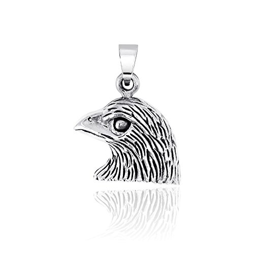Charm Silver Solid Sterling Eagle (WithLoveSilver Solid 925 Sterling Silver Charm American Bald Eagle Head Pendant)