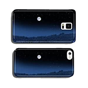 Winter landscape with full moon cell phone cover case iPhone5