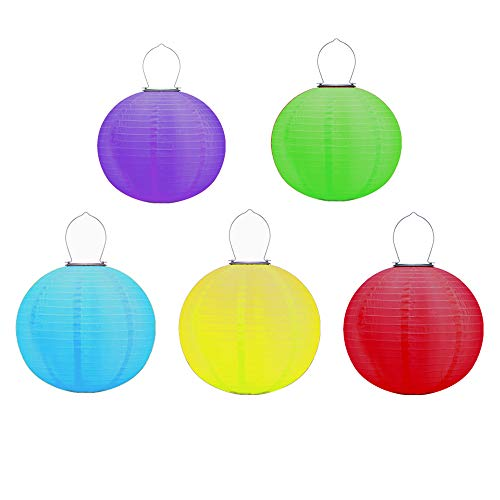 Coloured Garden Lantern Lights