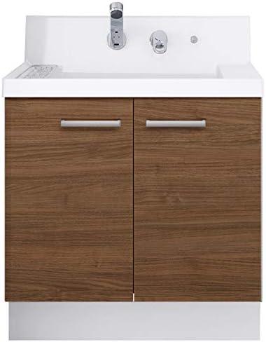 イナックス(INAX) 洗面化粧台 K1シリーズ 幅75cm 両開きタイプ シングルレバーシャワー水栓 K1N4-755SY/LM2H 一般地用 クリエモカ(LM2H)