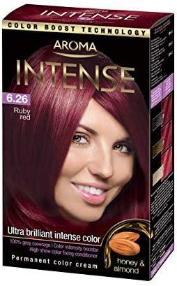 AROMA Color de pelo Intenso No 6.26 Ruby Rojo: Amazon.es ...
