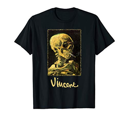 Skull with Burning Cigarette by Vincent van Gogh T-Shirt]()
