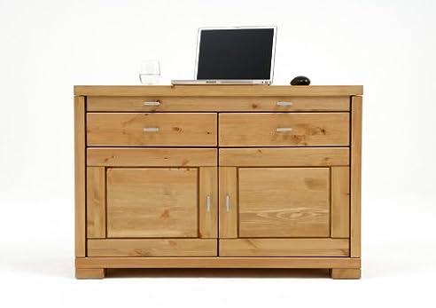 Laptop Kommode Schreibtisch Büromöbel Kiefer massiv, Farbe:Weiß ...