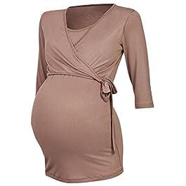 Happy Mama. Women's Maternity Nursing 2in1 Bolero Top Shirt 3/4 Sleeve. 458p
