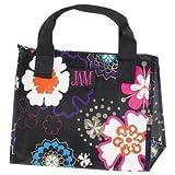 JAM Black Flower Power Insulated Lunch Bag (9 3/4